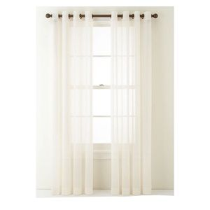 Home Expressions Crushed Voile Sheer Curtain Panel